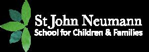 St. John Neumann logo in white